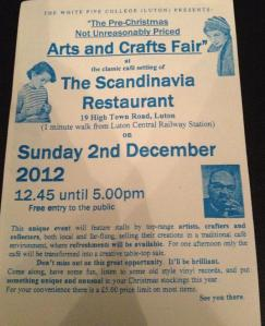 An image of the flyer for the 2012 arts and crafts fair