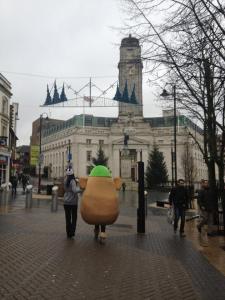 Luton Town Hall and potato