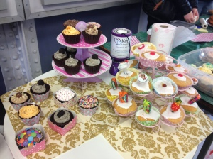 Cake sale for Keech at Luton train station in March 2013.