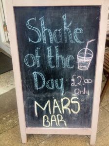 The Coffee House's Shake of the Day, on 16 April 2013.