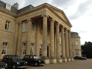 Luton Hoo. A fleet of (slightly clapped-out) taxis awaits to ferry you to various locations around the estate.