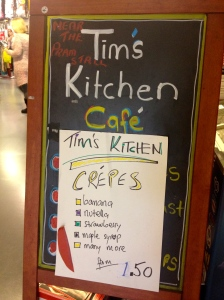 Tim's Kitchen: near the pram stall.