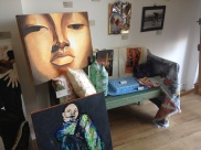 Artwork by local artists at Shop 33.