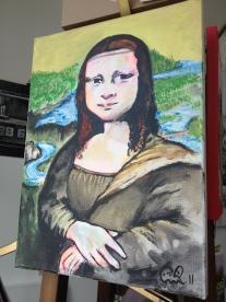 Lutonian détournement of the Mona Lisa.