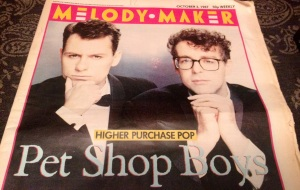 Front cover of the Melody Maker, featuring the Pet Shop Boys.
