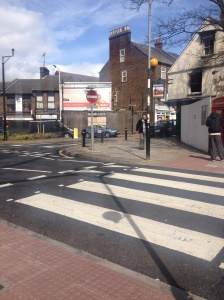 The new pedestrian crossing on Midland Road has brought joy to commuters.