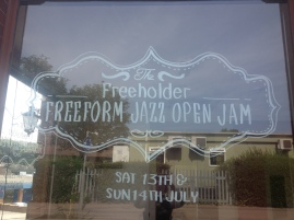 I have no idea what a freeform jazz open jam is, but it sounds amazing.