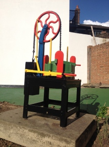 Hat Press refurbished by the Rotary Club of Luton North in 2013.