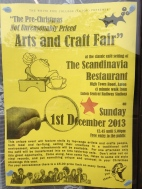 Mo' arch than yo' mamma: this year's flyer for the Pre-Christmas Not Unreasonably Priced Arts and Crafts Fair.